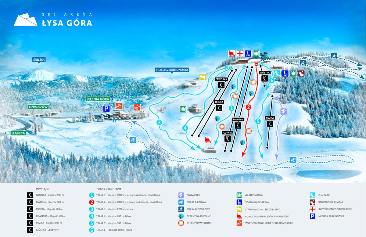 Trasy narciarskie na Łysej Górze