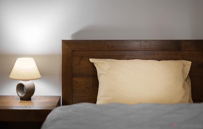 Sypialnia w apartamecie Guyota