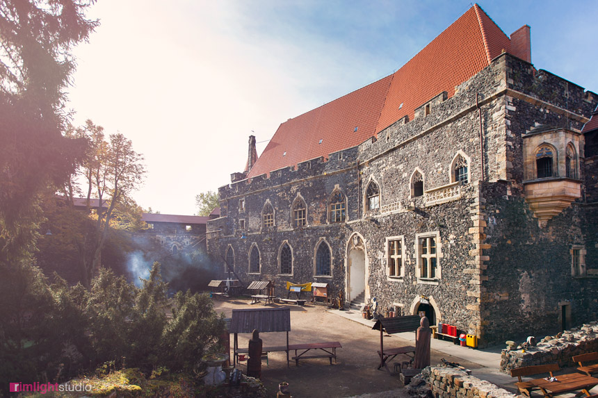 Dziedziniec zamku Grodziec